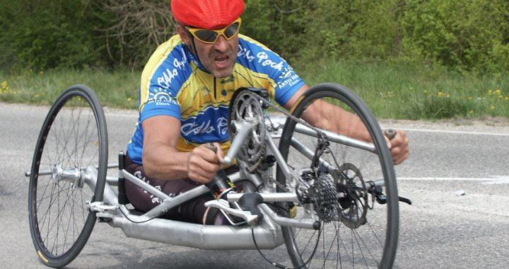 Johann Mayrhofer in seinem Rennbike, 2003 (Wikipedia)
